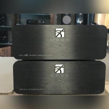 Przedwzmacniacz gramofonowy MOON LP 5.3 z PSU