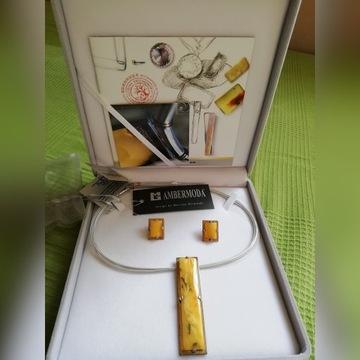 Naszyjnik i kolczyki Rhythmic Ambermoda