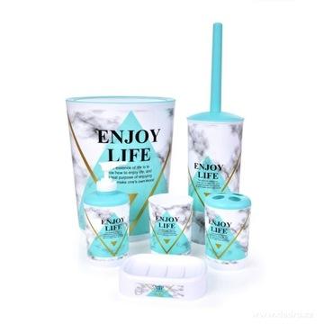 6-elementowy zestaw łazienkowy, komplet,Enjoy Life