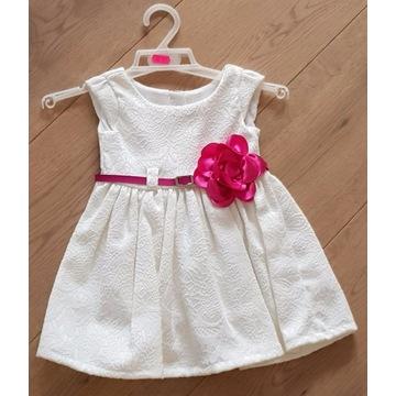 sukienka dla dziewczynki rozmiar 62 święta ecru