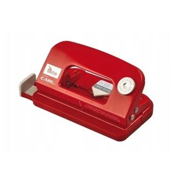 Dziurkacz Tetis Carl 03 metalowy czerwony