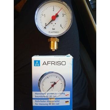 Manometr radialny grzewczy 80mm 1/2 0-4 bar Afriso