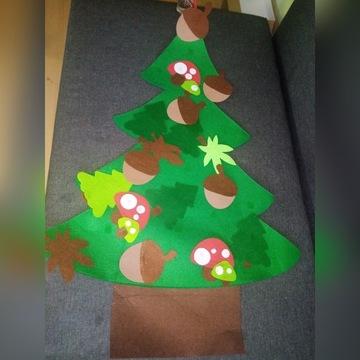 Ręcznie robiona filcowa filc choinka drzewko
