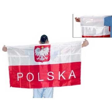 Flaga Polska 150 x90cm Kibica Biało Czerwona