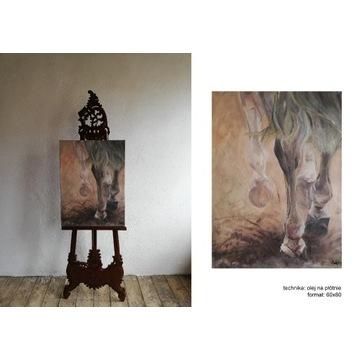 Malarstwo olejne, konie