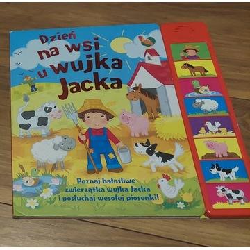 Książka edukacyjna wydaje dżwięki zwierząt na wsi