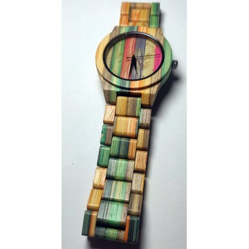 Zegarek drewniany damski, prezent+ box