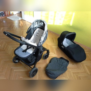 Wózek 2w1 gondola + spacerówka Graco Evo + dodatki
