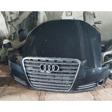 Audi A8 D4. zderzak przód,2013r. czarny ,bdb.