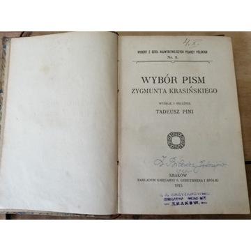 Stara książka WYBÓR PISM Z. KRASIŃSKIEGO