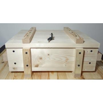 kufer, skrzynia drewniana a'la wojskowa