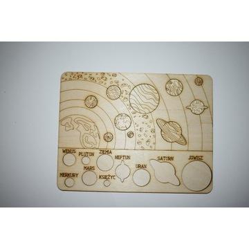 Układanka drewniana edu puzzle układ słoneczny