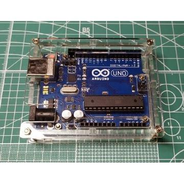 Arduino UNO R3 ATMega328 klon + obudowa akrylowa