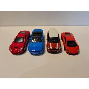 Kolekcja 4 modeli samochodów 3xMaisto  + 1xWelly