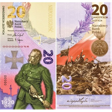 Banknot 20 Bitwa Warszawska 1920 20sztuk