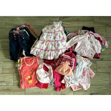 Zestaw ubrań paka 80 szt 0-2 lata 50-92