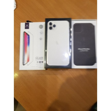 Apple iPhone 11 Pro Max 512 GB Silver+ etui+szkło