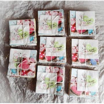 Serwetki decoupage zestaw 31szt, wiosna, wielkanoc