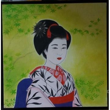Nowy obraz orientalny geisha maiko