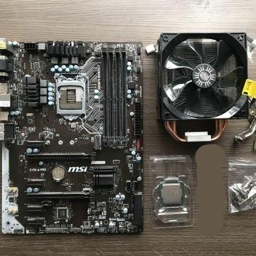 i5-6600K + MSI 170-A pro + chłodzenie