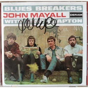 John Mayall Eric Clapton płyty CD z autografami