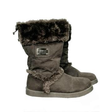 Guess śniegowce botki futerko emu 38