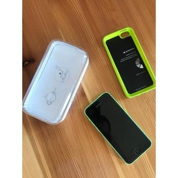 Apple iPhone 5C 32 GB zielony - jak nowy