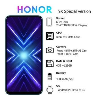 Nowy Huawei honor 9x 4gb/128gb 2 kolory