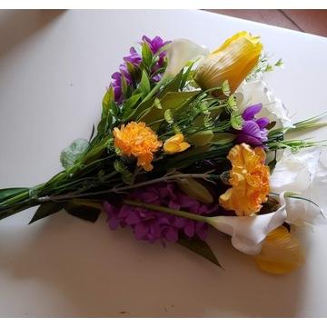 Bukiet wiosenny , wiązanka sztucznych kwiatów