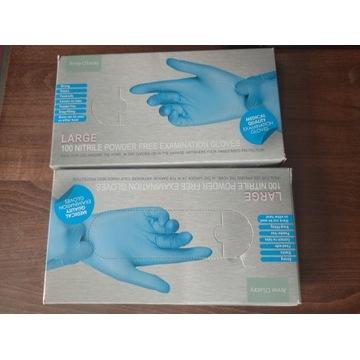 Rękawiczki gumowe nitrylowe L 100szt.