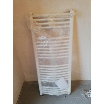 Grzejnik łazienkowy Alterna 50x120 biały z głowicą