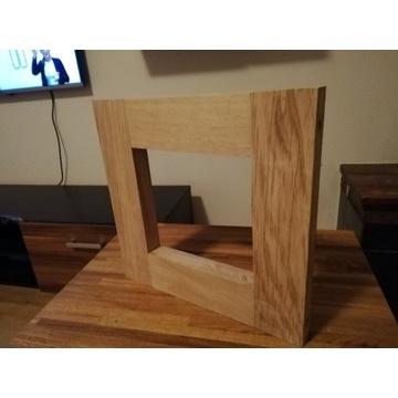 Ramka, półka wiszaca dębowa loft