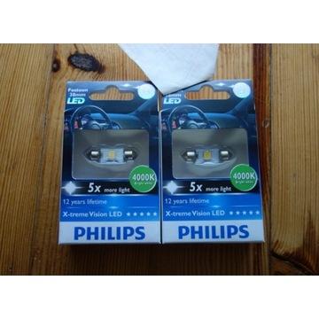 Philips C5W Festoon LED 4000K 38mm X-treme NOWE