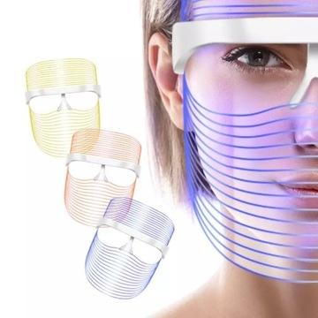 Maska LED | TERAPIA FOTONOWA 3 kolory + prezenty