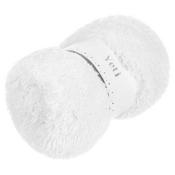 Koc narzuta 200x220 Yeti włochacz biały futrzak