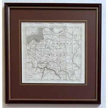 "Mapa Polski, 1840, Karol Forster ""La Pologne"""