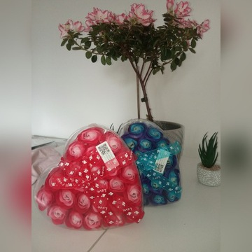 Róże mydlane 24 sztuki prezent upominek kwiaty