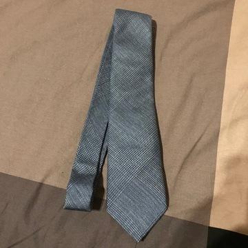 Krawat Miler Menswear, niebieski, krata ks. Walii