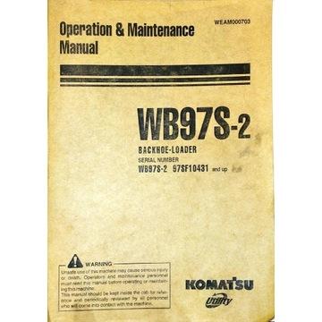 Komatsu WB97S-2 Instrukcja operatora ENG