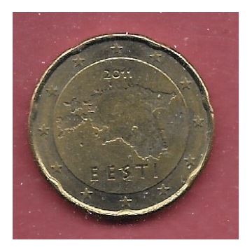 ESTONIA - 20 CENT - 2011
