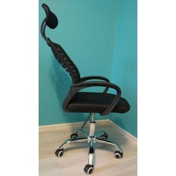 Ergonomiczny fotel obrotowy z reg. zagłówkiem