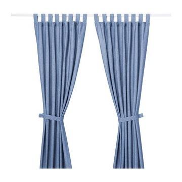 Zasłona LENDA IKEA niebieska 1SZT