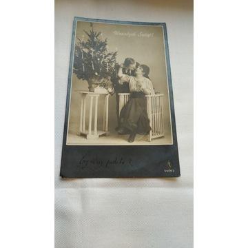 Przedwojenna pocztówka PFB 1924 Wesołych świąt