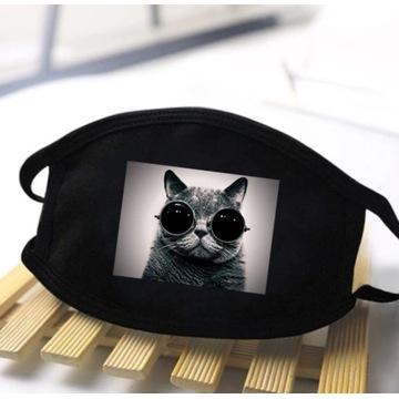 Maseczki z nadrukiem Kot Kotek Miś Usmiech