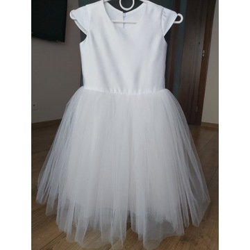 Sukienka wizytowa 134, 140 biała