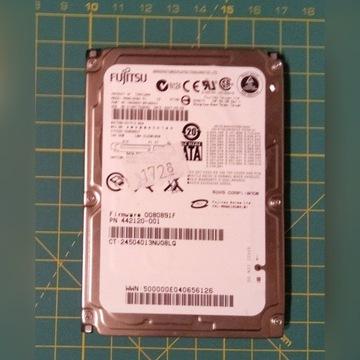 """Dysk HDD 2,5"""" 160GB SATA FUJITSU"""