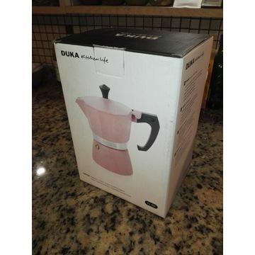 Kawiarka ciśnieniowa na 6 filiżanek DUKA różowa
