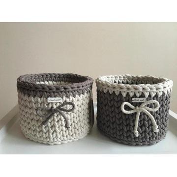 Koszyczek ręcznie robiony ze sznurka bawełnianego
