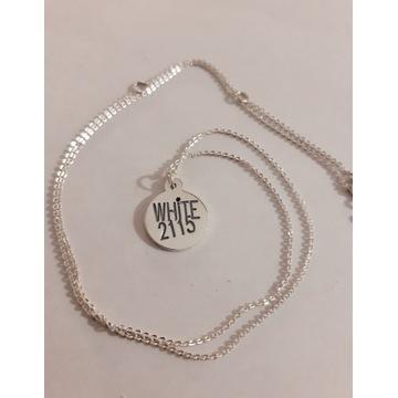 Nowy srebrny925 naszyjnik choker inspir White 2115