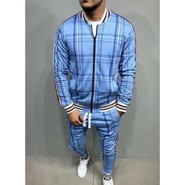 Niebieski ekskluzywny dres